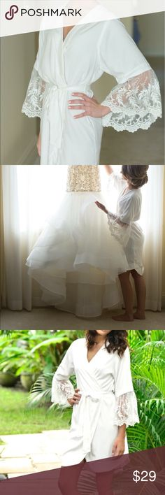 Selling this Bridal Robe 👰🏼 on Poshmark! My username is: mleanne91. #shopmycloset #poshmark #fashion #shopping #style #forsale #Other