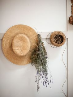 drying herbs, sun hat, and twine houzz tour//tess fine