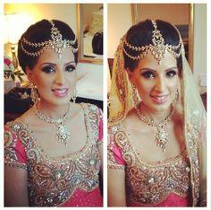 head piece for an Indian wedding. Maang tikka