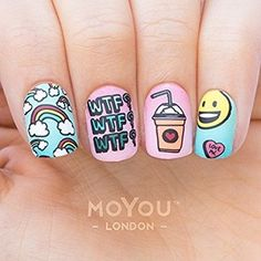 Try some of these designs and give your nails a quick makeover, gallery of unique nail art designs for any season. The best images and creative ideas for your nails. Trendy Nail Art, Cute Nail Art, Cute Acrylic Nails, Acrylic Nail Designs, Trendy Hair, Crazy Nail Art, Tumblr Nail Art, Super Nails, Nagel Gel