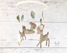 Baby Mobile - Baby Girl Mobile - Deer Baby Mobile - Blush Pink Fawn Baby Mobile - Gold Nursery Decor - Farmhouse Nursery - Woodland Decor by PaigeAndPoppy on Etsy https://www.etsy.com/listing/529496007/baby-mobile-baby-girl-mobile-deer-baby