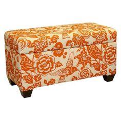 Songbird Storage Bench - Tangerine.  Want this!