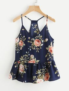 AU Women Plus Floral Casual Sleeveless Crop Top Vest Tank Shirt Blouse Cami Tops Cami Tops, Peplum Tops, Summer Outfits, Cute Outfits, Summer Clothes, Trendy Outfits, Plus Size Tank Tops, Inspiration Mode, Sleeveless Crop Top