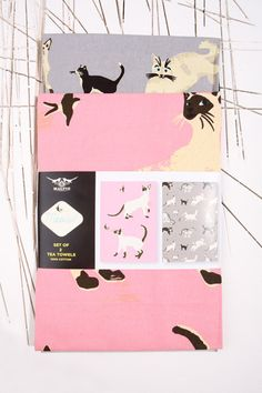 Kit Tex Meow Tea Towel at Urban Outfitters
