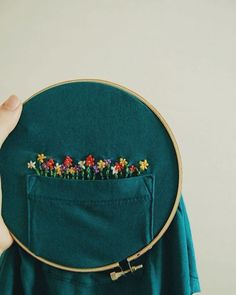 Grand Sewing Embroidery Designs At Home Ideas. Beauteous Finished Sewing Embroidery Designs At Home Ideas. Hand Embroidery Stitches, Hand Embroidery Designs, Embroidery Art, Cross Stitch Embroidery, Hand Stitching, Beginner Embroidery, Flower Embroidery, Diy Clothes Embroidery, Embroidery Digitizing