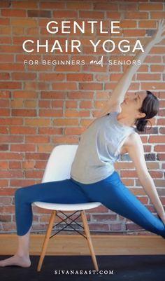 Chair yoga is a wonderful practice for every body, suitable for beginners and seniors. Yoga Sequence For Beginners, Yoga Flow Sequence, Yoga Sequences, Yoga Régénérateur, Vinyasa Yoga, Fitness Senior, Yoga Fitness, Kids Fitness, Yoga Inspiration