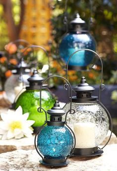 Our Sunburst Lanterns will add ambience to mom's patio