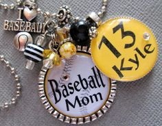 Baseball Mom Football Mom Silver Pendant Necklace  by buttonit, $22.00