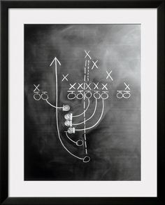 Football Play on Chalkboard or basketball, how cute for sports theme bedroom- great for man cave or game room/basement ~Lee