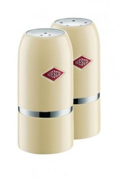 Our Wesco Salt & Pepper Shaker Set in Almond will shake up your culinary skills! #wesco #shakeitup