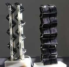 3D Solar Panel Towers Increase Energy Output up to 20 Times!