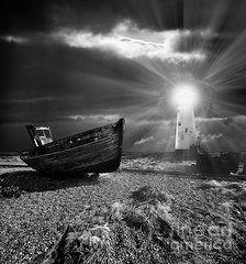 Arte Destacada - Barco de Pesca Cementerio 7 por Meirion Matthias