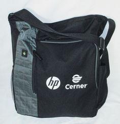 Messenger Bag HP Cerner Logo Leeds Business Travel Luggage Black Nylon 15  inch  Leeds b5c27c2f9c120