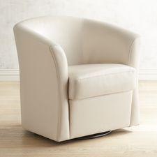 Isaac Ivory Swivel Chair