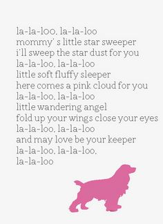 Lady and the Tramp Disney Lullaby Free Printable