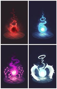 The Amazing Soul Eater Soul's Evil Is Top Left, Good Is Top Right, Witch Bottom Left, And I Think Like A Hero Is Bottom Right.