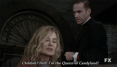 "God save the Queen. | Community Post: 26 Times ""American Horror Story"" Brought The Sass"