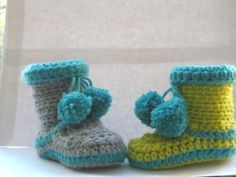 Boots for Boys Crochet Baby Booties pdf  by CrochetBabyBoutique, $4.99