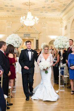 Wedding Ceremony | Biltmore Ballrooms Wedding | Atlanta Wedding | Ballroom Wedding | Garter and Whiskey Ballroom Wedding, Wedding Ceremony, Reception, Ballrooms, Wedding Garter, Atlanta Wedding, Special Events, Whiskey, Wedding Dresses