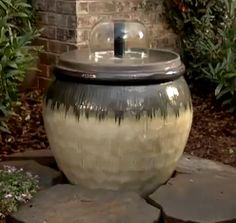 how to make your own fountain out of flower pots.
