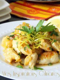 Cuisine espagnole : Poulet au citron et a l'ail - Foods Schmuck Damen Spanish Cuisine, Lemon Chicken, Carne, Chicken Recipes, Food Porn, Food And Drink, Yummy Food, Healthy Recipes, Banquet