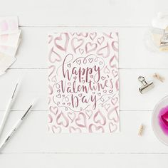 Happy Valentine's Day Valentines Card Printable Greeting