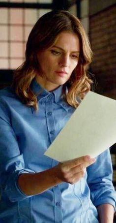 Button Down Collar, Button Downs, Private Eye, Kate Beckett, Stana Katic, Season 7, Down Shirt, Gloves, Castle