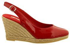 Brasil-7 leren espadrilles van Toni Pons in de kleur Rood en voorzien van een stijlvolle glans.