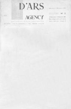 1962 Rivista D'ARS AGENCY