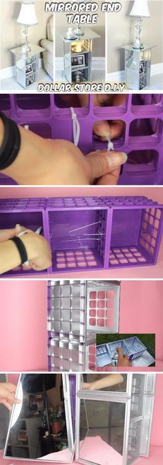 The Fundamentals Of Vanity Organization Diy Dollar Tree Organizing Ideas Rev… - Diy Home Decor Dollar Tree Mirrors, Dollar Tree Decor, Dollar Tree Crafts, Dollar Store Mirror, Dollar Tree Organization, Bedroom Organization Diy, Organization Ideas, Organizing Tips, Vanity Organization