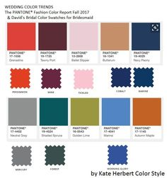Top 10 Fall 2017 Trending Colors from Pantone