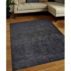 Get My Rugs Hand-Woven Gray Area Rug Rug Size: 8' x 10'