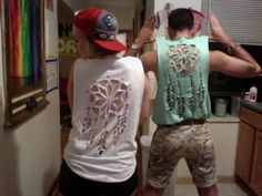 """I just really want to see the """"nailed it"""" photo for this diy dreamcatcher cut out tee... @Lauren Land"""
