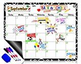 Dry Erase Calendar Magnetic Whiteboard for Refrigerator: 3 Fine Tip Dry Erase Markers and Eraser: Magnetic for Refrigerator: Back To School Organizer: Magnetic Calendar for Office   Premium grade dry erase exterior:  brighter white display and easy wipe surface for quality performance. Design...