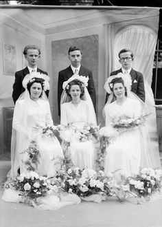 1951 France - Triple wedding France This looks earlier than the 1950s, doesn't it?