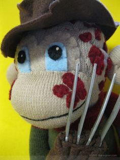 Freddy Krueger Sock Monkey by Stacey Jean, via Behance