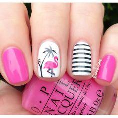ik ga dit zelf doen flamingo nagels