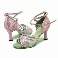 Ballroom Dance Shoes Sparkling Glitter Upper Latin Dance Shoes for Women More Colors