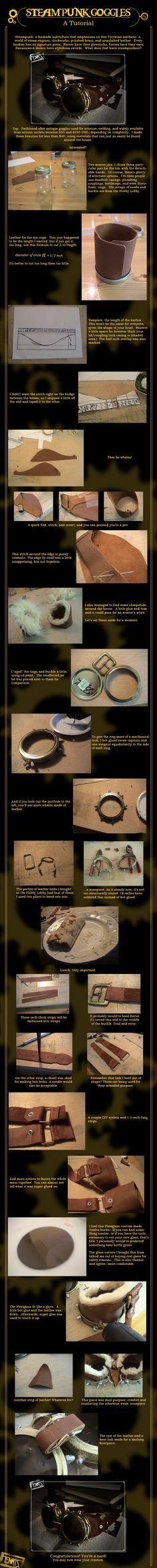 TUTO: Óculos Steampunk.   Oficina Trifolio