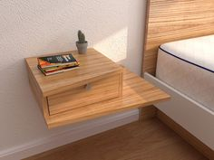Space Saving Furniture, Diy Furniture, Furniture Design, Floating Lights, Bedroom Night Stands, Floating Nightstand, My Room, Home Remodeling, Shelving