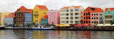 Island of Curacao in the Southern Caribbean Sea. Building are so colorful. Small but very pretty.