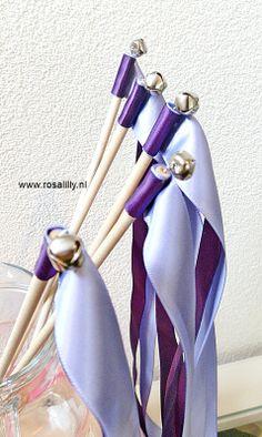 #Wedding #wands #bruiloft #stokjes in #paars #lavendel