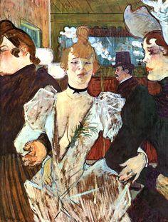 La Goulue, Paris, 1892   ...  HENRI de TOULOUSE--LAUTREC   ....  11/24/1864 - 9/9/1901