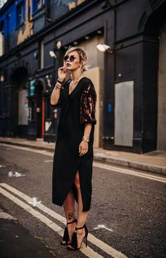 black maxi dress | dress: By Malene Birger | style: casual, chic, edgy | London