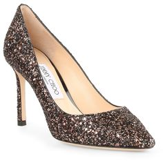 a7313494fae Romy 85 Bronze Glitter Pumps (13.095 CZK) ❤ liked on Polyvore featuring  shoes
