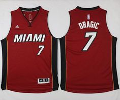 Miami Heat  7 Goran Dragic Red Stitched NBA Jersey Cheap Nba Jerseys 2281c6705