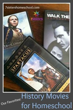 History Movies for Homeschool: our favorite titles for high school. A list of movies and ideas for homeschool use from 20+year veteran homeschool moms.