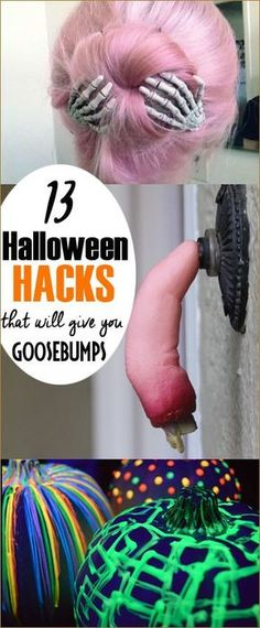 13 Halloween Hacks. Halloween tips and tricks to set a spooky and fun atmosphere in your home, porch and accessories. Spook out the neighborhood with these awesome Halloween ideas and decor.