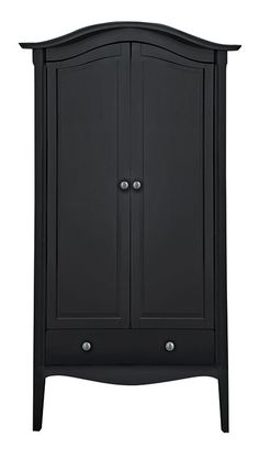 This Glamour 2 Door Wardrobe in Black from Argos will complete your Boutique Luxe bedroom look.