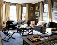 Contemporary Celebrity Home Interior Decorating Ali Wentworth – Sofa and Book Storage at Living Room, Photo  Contemporary Celebrity Home Interior Decorating Ali Wentworth – Sofa and Book Storage at Living Room Close up View.